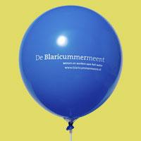 Ballon voor een woonwijk