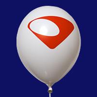 Bedrijfslogo op een ballon
