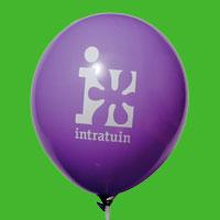 Bedrijfslogo op ballonnen